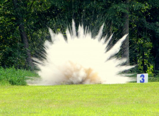 Demonstration Explosion 1